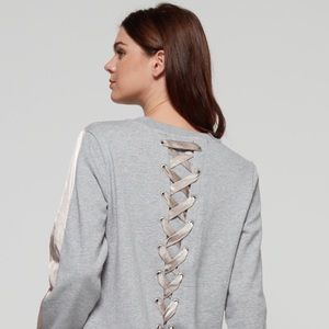 Anthropologie Current air lace up sweatshirt Small